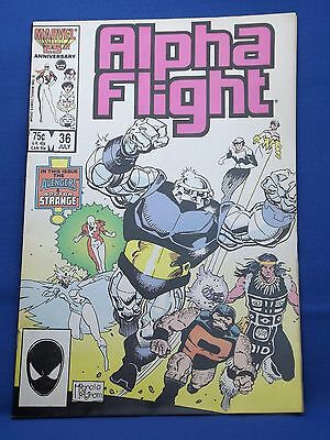 Marvel Alpha Flight Comic #36 July 1986