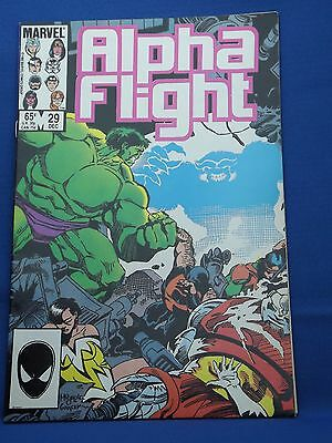 Marvel Alpha Flight Comic #29 Dec 1985