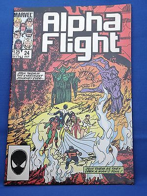 Marvel Alpha Flight Comic #24 July 1985