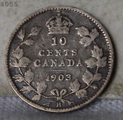 1903-H *Silver* Canada 10 Cents *Free S/H After 1st Item*