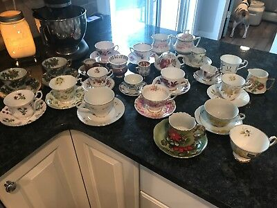 Mixed Lot of Vintage Tea Cups & Saucers Fine Bone China England Japan Germany