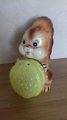 Collectable..large Size..salt And Pepper Pots..squirrel And His Nut..so Cute..