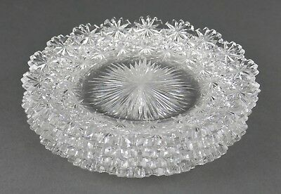 Fine Antique AMERICAN BRILLIANT Cut Crystal ABP Small Salad Plates Set Of 4 A