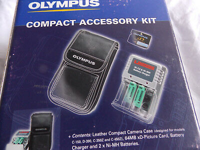 Olympus compact accessory kit, case, XD card, batteries  and charger