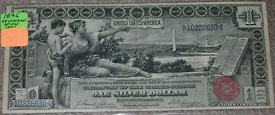"""1896 $1.00 Silver Certificate """"Educational Note"""" Nice Condition and Color (#630)"""