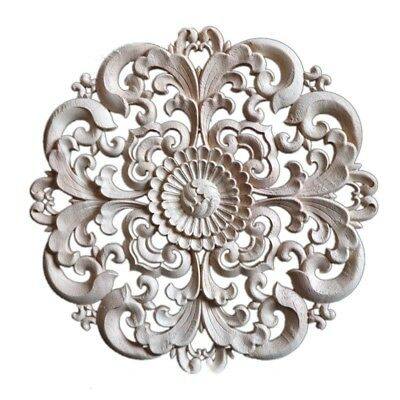 Floral Carved Woodcarving Decal European Style Door Bookcase Mouldings Decor 1PC