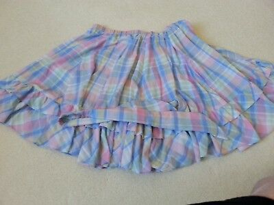 Pink  Blouse And Plaid Square Dance Skirt