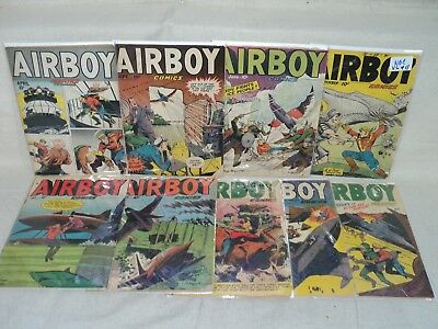 Airboy LOT 9 Issues From 1948-1952! Hillman Periodicals Comics (s 10356)