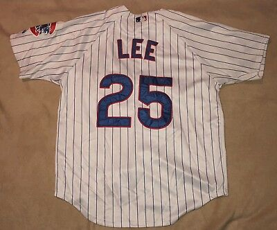 34686caa467 usa sewn authentic white majestic chicago cubs derrek lee 25 baseball jersey  large 7b19a 977d0