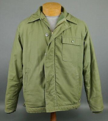 Vintage Vietnam War USN Navy A-2 Cold Weather 1967 Deck Jacket Painted TACTS