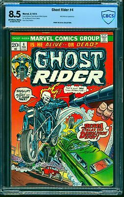 Ghost Rider #4 CBCS VF+ 8.5 Off White to White Marvel Comics