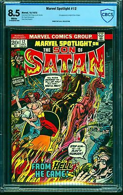 Marvel Spotlight #12 CBCS VF+ 8.5 White Pages Comics