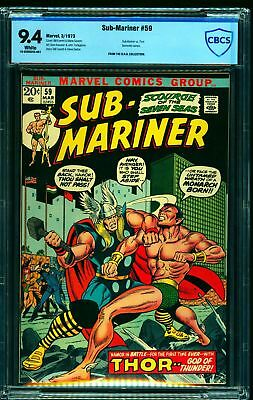 Sub-Mariner #59 CBCS NM 9.4 White Pages Marvel Comics