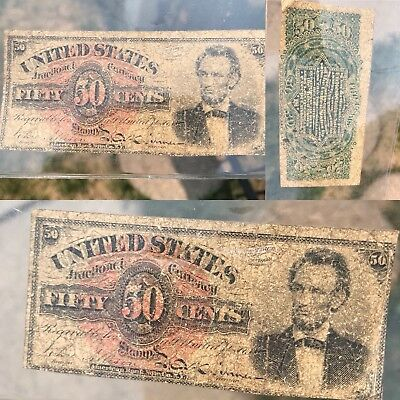 fractional currency lincoln 50 Cents 1374 RARE **
