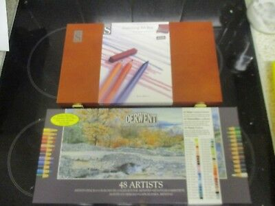 Sketching art box and 48 Derwent colour pencils both unused