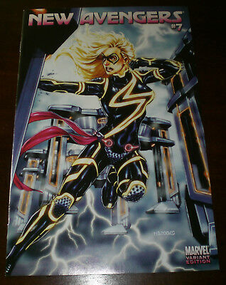 NEW AVENGERS #7 Ms Marvel TRON Mark Brooks 1:15 VARIANT NM