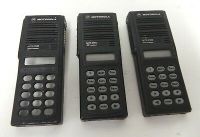 Lot of 3 Motorola MTS 2000 Radio Black Housing Front Cover Case