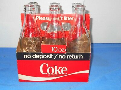 1966 era Coca-Cola Canada Non-Returnable Rare Crown Top 6 Pack In Carrier Exc!