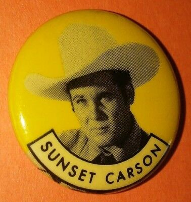 Sunset Carson Western Vintage 1950S Republic Pictures Pin Button Rare F