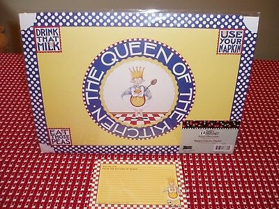 "Mary Engelbreit ""Queen Of The Kitchen"" Paper Placemats and Recipe Cards"