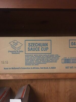 Mcdonalds Szechuan sauce case BOX  (250ct.)