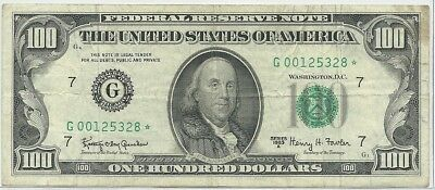 Series 1963 US $100 Federal Reserve * STAR Note - Chicago - Rare