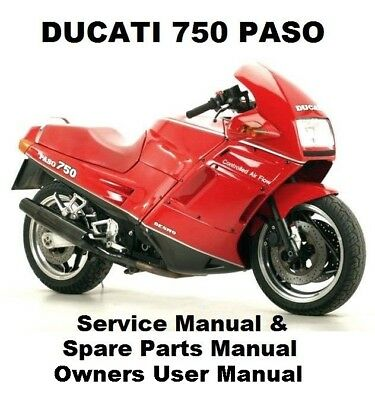 DUCATI 750 PASO - Owners Workshop Service Repair Parts Manual PDF on CD-R DESMO
