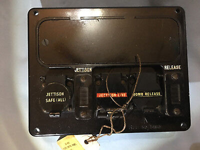 Raf Early Jet Pilot Control Panel Jettison And Bomb Release In Nos Condition Uk