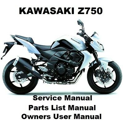 Z750 - Owners Workshop Service Repair Parts List Manual PDF on CD-R 750 Z KZ