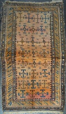 C 1880 Balouch Antique Persian Exquisite Hand Made Rug 3x5