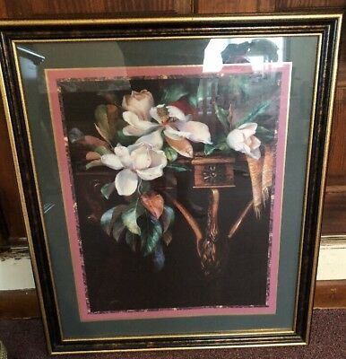 Large HOME INTERIORS Floral Print Picture By Giacomo