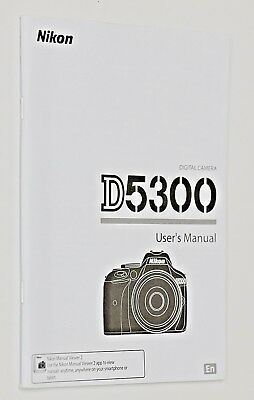 Genuine Owners Instruction User Manual Nikon D5300 - English - New