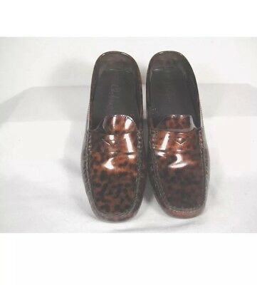 cb2f7e92697f COLE HAAN Tortoise Patent Leather Trillby Driver Mocs Loafers Shoes Sz 7.5