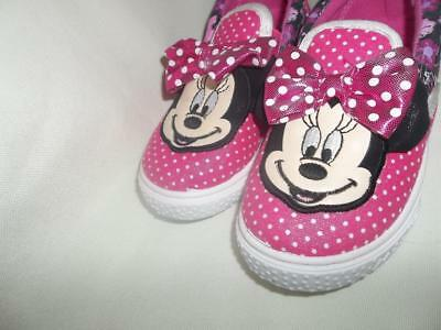 Disney Minnie Mouse Slip-On Canvas Sneaker Shoes Girls Size 9 New With Tags