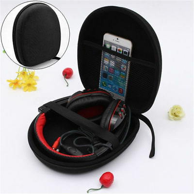 Large Headset Earphone Carry Pouch Box Headphone Case Bag Storage Organizer