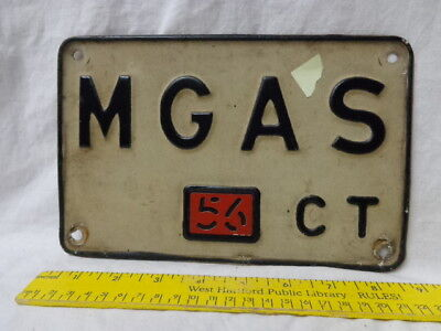 1956 MGA Personalized Connecticut License Plate, MGAS, British Sports Car, Ex