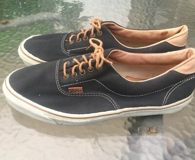 RARE VANS VTG Made In USA Orange Canvas Shoes Men Size 5 OR W 7 ... 8dbe1459a