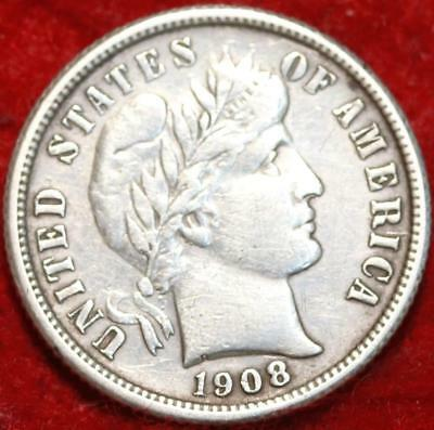 1908-O New Orleans Mint Silver Barber Dime