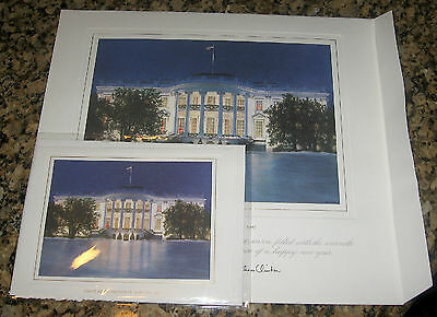 *BRAND NEW* 1997 SET White House OFFICIAL Christmas Card LARGE + SMALL Clinton