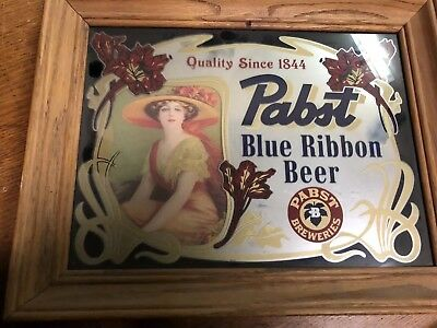 Pabst Blue Ribbon Beer Mirror Sign