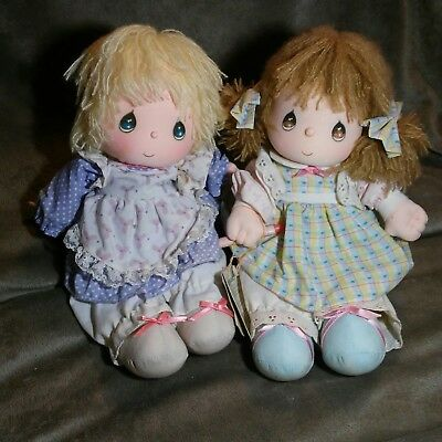 Collectible 1986 Precious Moments Musical Dolls By Applause  Merrie and Patty