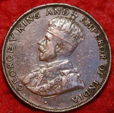 1926 Hong Kong One Cent Foreign Coin