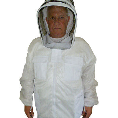 VENTILATED Beekeeping JACKET  Fencing Veil White SIZE XL 3 layer mesh by Janmart