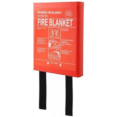 1 X 1m Fire Blanket In Hard Case PAFPS596-01 Fireblitz