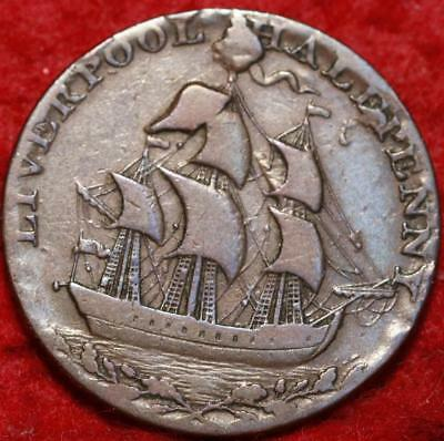 1793 Great Britain 1/2 Penny Token Foreign Coin