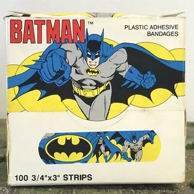 NEW Vintage Super Powers Quantasia DC Comics DCU Batman Band-Aids W/ Box 1989 S