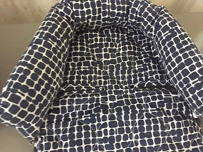 TWO Navy Patterned Baby Car Seat Inserts/ Head Support