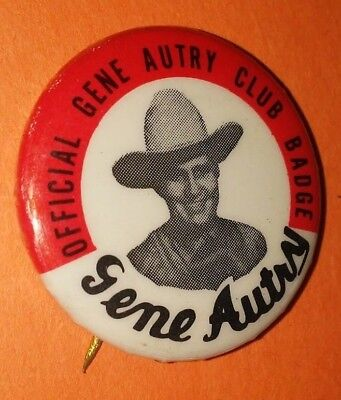 Gene Autry Western Club Badge Pin Button Vintage Rare Original 50's 60's A