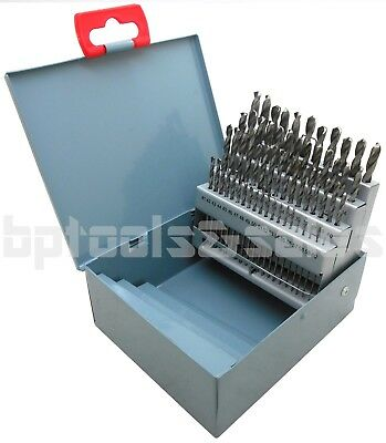 60pc DRILL BIT SET M2 HSS HIGH SPEED STEEL BITS NUMBERED #1-60 w/ METAL CASE