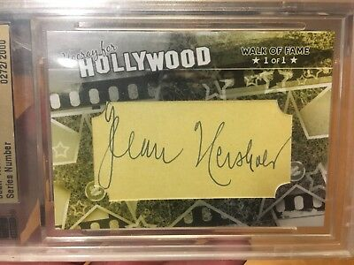 Jean Hersholt 1/1 Walk Of Fame Autograph Famous Fabrics Ink Hooray For Hollywood